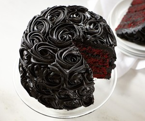 cake, black, and food image