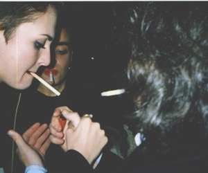 girl, smoke, and grunge image