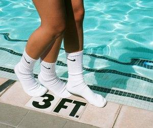 nike, pool, and socks image