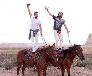 jared leto, shannon leto, and horse image