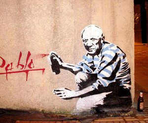 art, street art, and Pablo Picasso image