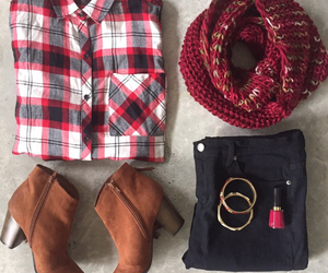 flannel, fall, and fashion image