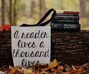 books, fall, and reader image