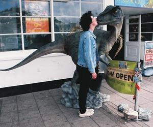 boy, dinosaur, and kiss image