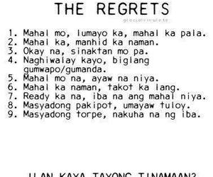 regrets, wtf, and tagalog image
