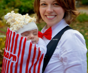 baby and popcorn image