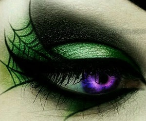 Halloween, makeup, and green image