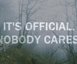 alone, nobody cares, and love image