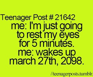 teenager post, sleep, and funny image