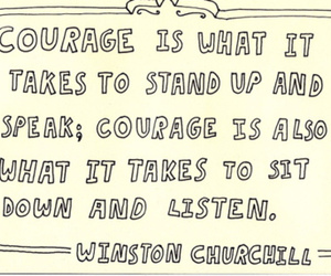 courage, quote, and winston churchill image
