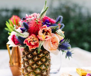 pineapple and flowers image