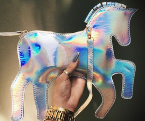 holographic, horse, and cute image