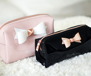 pink, bag, and black image