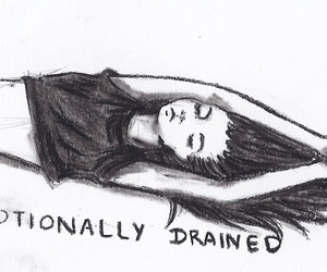 girl, drained, and emotions image