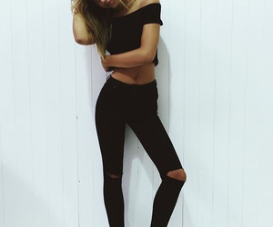 alexis ren, black, and style image