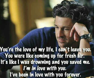 quote, love, and grey's anatomy image