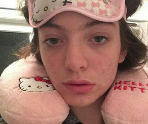 hello kitty, pink, and ️lorde image
