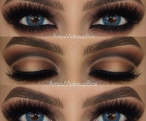 eyebrows, lashes, and make up image