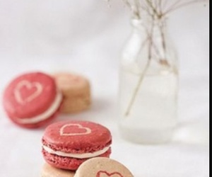 macaroons, food, and heart image