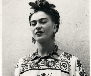 frida kahlo, art, and black and white image