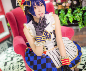 fashion, cute anime girl cosplay, and blue hair girl cosplay image