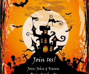 card, invitation card, and happy halloween image