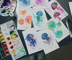 art, watercolor, and d image
