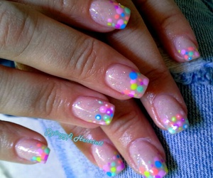 color, nails, and spring image