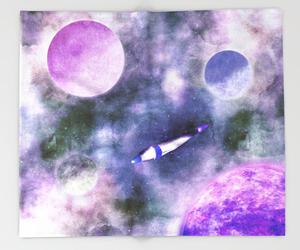 cosmic, nebula, and rocket image