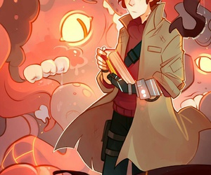 gravity falls, dipper pines, and bill cipher image