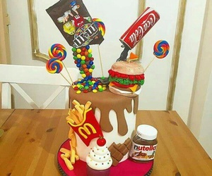 cake, nutella, and food image