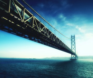 bridge, photography, and sea image