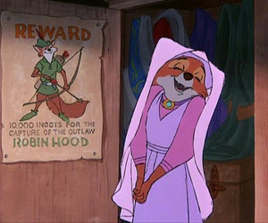 disney, robin hood, and love image