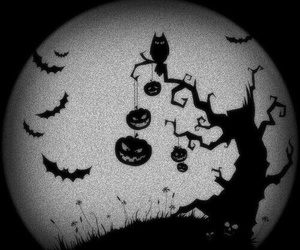 Halloween, pumpkin, and tree image