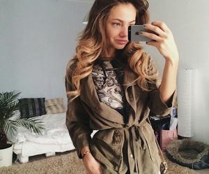 coat, hair, and markina image