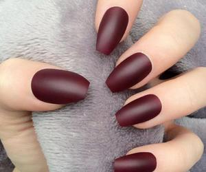 nails, matte, and nail art image