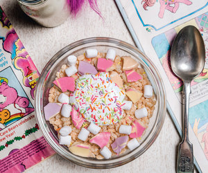 cereal, fluff, and pink image