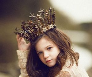 girl, princess, and crown image
