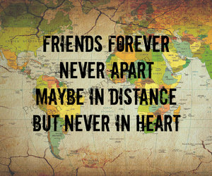 distance, friendship, and etsy image