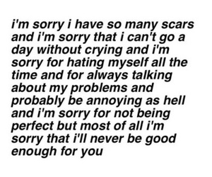 scars, sad, and sorry image