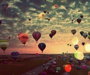 beautiful, sky, and balloons image