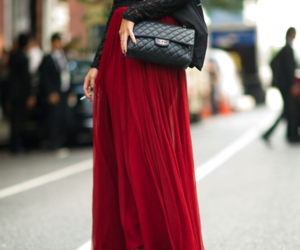 fashion, red, and chanel image