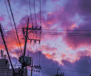 sky, purple, and grunge image