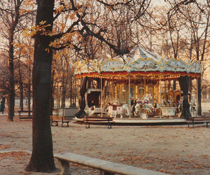 beautiful, carousel, and fall image