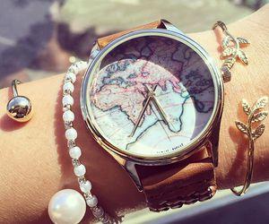 bracelet, watch, and world image