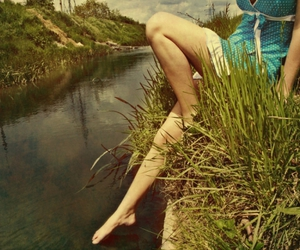girl, landscape, and nature image
