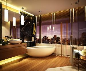 beautiful, bathroom, and luxury image