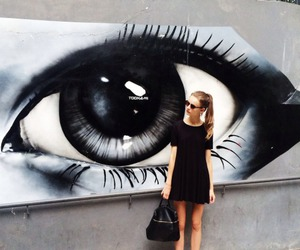 girl, fashion, and eye image