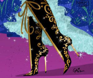 disney, shoes, and anna image