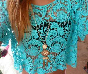 fashion, blue, and lace image